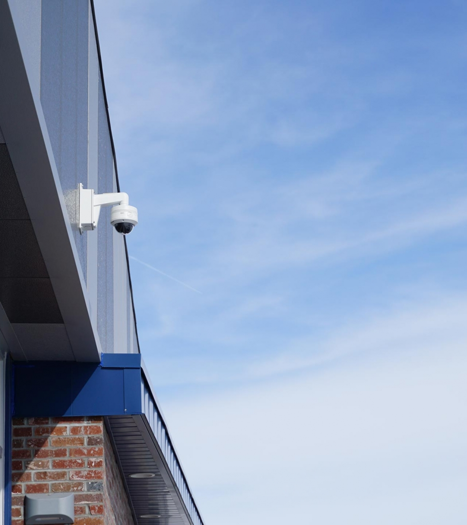 Exterior video surveillance at Brick House Fitness